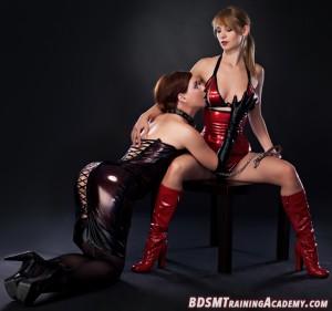 Dominatrix male submissive Lesbian